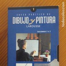 Arte: VHS-CURSO PRACTICO DIUJO Y PINTURA. LECC.1-2.1996.LAROUSSE. TRAZOS BASICOS EDUCACION MANO Y VISTA.... Lote 218234770