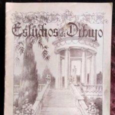 Arte: CUADERNO DIBUJO / * ESTUDIOS DE DIBUJO/ESTUDIOS DE JARDINES POR J. CAMINS *. PAISAJE 2. AÑOS 40/50.. Lote 218689427