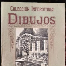 Arte: CARPETA DIBUJO/*COLECCIÓN IMPERATORIA/DIBUJOS/JARDINES* (7 LÁMINAS) POR J. CAMINS. AÑOS 50 (S. XX).. Lote 218697600