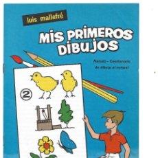 Arte: MIS PRIMEROS DIBUJOS DE LUIS MALLAFRÉ. CUADERNO NÚM. 2. METODO - CUESTIONARIO, DIBUJO AL NATURAL. Lote 221939227