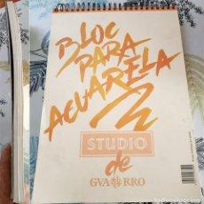 Arte: BLOC PARA ACUARELAS STUDIO DE GUARRO 40 HOJAS 291/420 MM. Lote 230932935