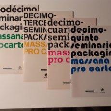 Arte: 4 CATÁLOGOS SEMINARIO PACKAGING MASSANA PRO CARTON. EDICIONES 12, 13, 14 Y 15. Lote 231911025