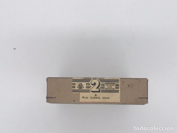 Arte: ANTIGUA CAJA ROSAL DE CARTON COLORES FINOS AL OLEO ROJO CADMIO CLARO - 6 TUBOS - Foto 3 - 238149355