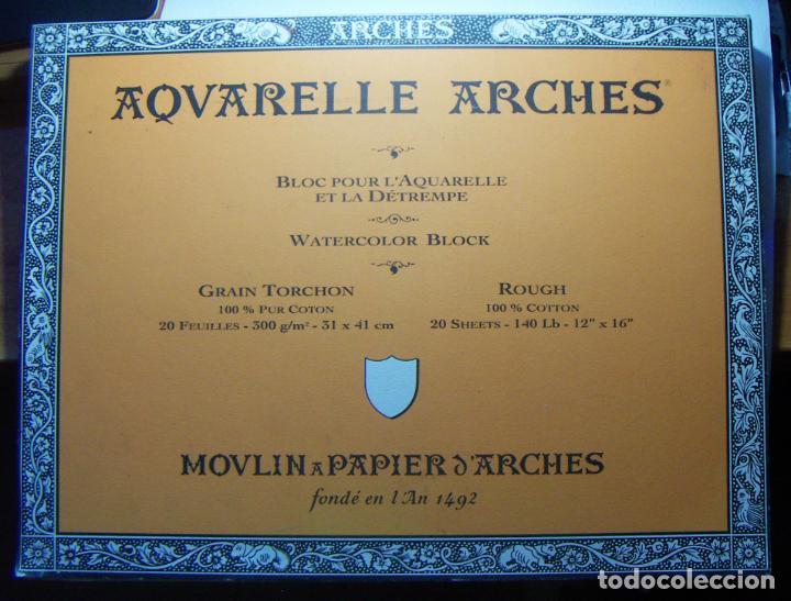 BLOC DE ACUARELA ARCHES 300GR. GRAIN TORCHON 41X31 19 HOJAS (Arte - Material de Bellas Artes)
