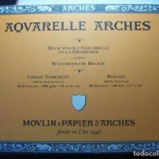 Arte: BLOC DE ACUARELA ARCHES 300GR. GRAIN TORCHON 41X31 19 HOJAS. Lote 241495730