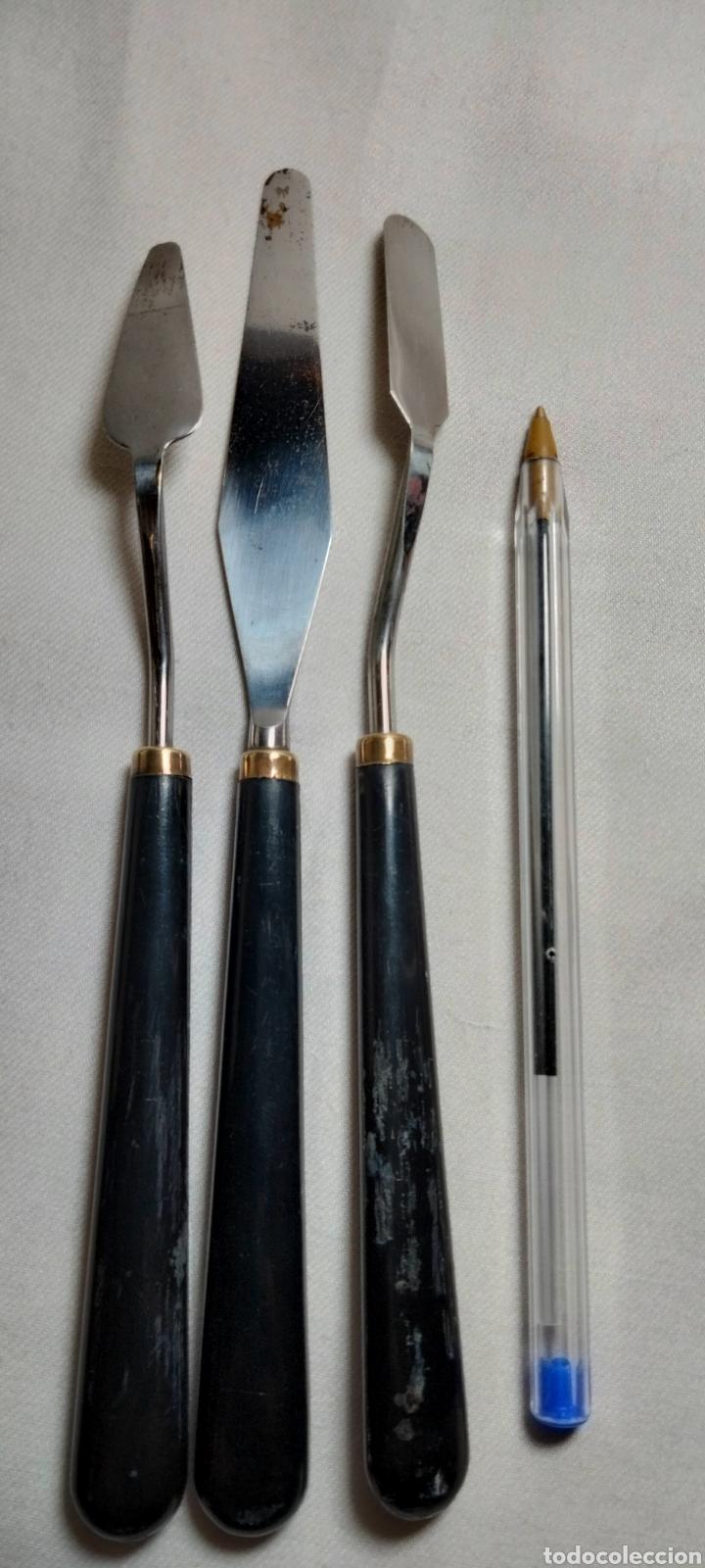 Arte: 3 Espátulas vintage para pintar al oleo - Foto 2 - 242872220