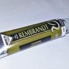 Arte: TUBO PINTURA OLEO REMBRANDT VERDE OLIVA 620 40 ML SERIES 2 NUEVO. Lote 243905500