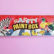 Arte: CAJA ACUARELAS-PAINT BOX-SAFETY-ENGLAND-COLECCIONISTAS-NOS-DESCATALOGADOA-VER FOTOGRAFÍAS. Lote 246899720