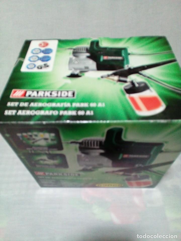 Arte: Aerógrafo compresor de aire Parkside PABK 60 A1 - Foto 2 - 255556215
