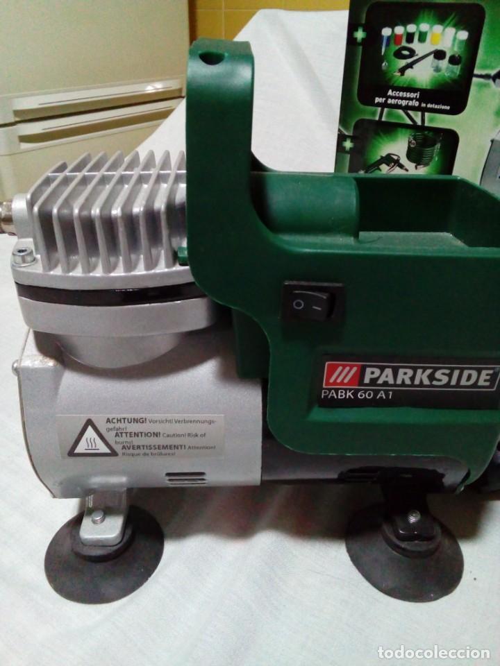 Arte: Aerógrafo compresor de aire Parkside PABK 60 A1 - Foto 9 - 255556215
