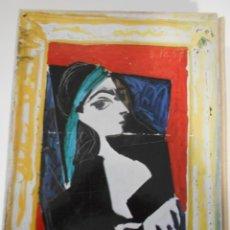 Art: PICASSO. J. A. GAYA NUÑO. ESTUCHE CON LIBRO Y COLECCION DE 216 DIAPOSITIVAS. LIBROFILM AGUILAR, 1ª. Lote 261623500