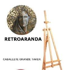 Arte: CABALLETE PINTOR . MARCA TAKER - TAMAÑO GRANDE: 1,65 CM X 57 CM - COMO NUEVO.. Lote 262088325