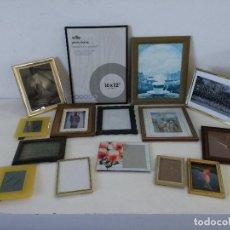 Arte: GRAN LOTE CON 15 MARCOS O PORTAFOTOS, VARIOS MATERIALES Y DISEÑOS. Lote 264073865