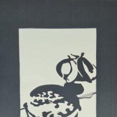 Arte: ABSTRACTO. MARTÍ PEY. OBRA EN CARTULINA CALADA. 1984.. Lote 276993773