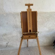Arte: CABALLETE PINTURA OLEO PLEGABLE MADERA MARCA BONFIL DE CAMPAÑA CON MALETIN CAJON. Lote 286695098
