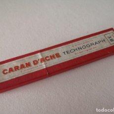 Arte: CAJA VINTAGE DE CARTÓN DE 6 MINAS CARAN D'ACHE TECNOGRAPH 6077 3B. Lote 287539248