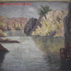 Arte: 740.- OLEO S/TELA-CART 39X34 ,,,CALA OLLA, S.FELIU GUIXOLS,,, S.MADALELL . Lote 26500741