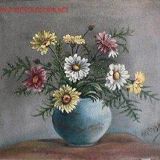 Arte: 748.- OLEO S/TELA 46X33 ,,,FLORES,,, Mª.A.VIÑALS . Lote 26292037
