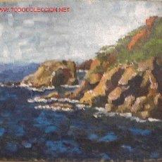 Arte - 752.- OLEO S/TELA 55x46 ,,,ROCAS COSTA LITORAL,,, ANONIMO - 26995757