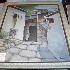 Arte: CAYETANO LLEDO, PINTOR CÁNTABRO - ÓLEO TABLA PAISAJE COMBARRO - PONTEVEDRA - GALICIA, TOTAL 87X72CM+. Lote 16611363