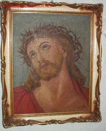 CRISTO CON CORONA DE ESPINAS, OLEO (Arte - Pintura - Pintura al Óleo Moderna sin fecha definida)