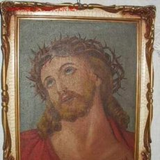 Arte: CRISTO CON CORONA DE ESPINAS, OLEO. Lote 27624295