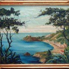Arte: PAISAJE COSTERO - FDO. L. DEL VALLE , ESC. CATALANA S. XX. Lote 26832284