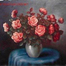 Arte: 505.- OLEO S/ TELA DE 82X66 ,,,MESA JARRON FLORES,,, ESTEBAN Wº VICIANA. Lote 26292047