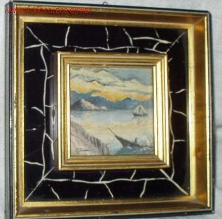 MINIATURA CON MOTIVO MARINO (Arte - Pintura - Pintura al Óleo Contemporánea )
