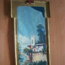 Arte: PRECIOSA PINTURA SOBRE CHAPA MODELADA - FIRMADO - FINALES SIGLO XIX Y P. S. XX- 19 X 42 CM.. Lote 26777432