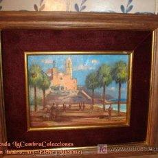 Arte: ANTIGUA PINTURA AL OLEO SOBRE TABLEX, FIRMADO M. FERRER. NO COPIAS.. Lote 20760066