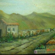Arte: 1316 PAISAJE CUADRO AL OLEO SOBRE TABLA FIRMADO AÑOS 1950 COSAS&CURIOSAS. Lote 26307739