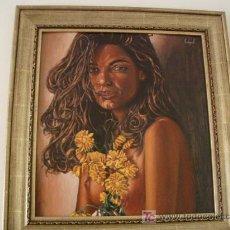 Arte: OLEO SOBRE TABLA DESNUDO CON FLORES . Lote 27339796