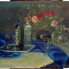 Arte: 1271.- OLEO S/TELA 59X73 ,,,BODEGON,,, MARTÍ 1948. Lote 26292032