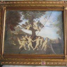 Arte: PRECIOSO CUADRO EN MINIATURA, PINTADO DETRAS DEL CRISTAL. HACIA 1920. . Lote 26555463