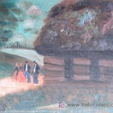 Arte: NAPARRA, PINTOR VASCO: UN ÓLEO SOBRE TABLA. Lote 27092826