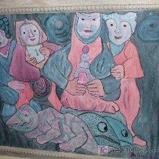 Arte: BICHOS ÓLEO/LIENZO. FIRMADO Y FECHADO. Lote 27302144