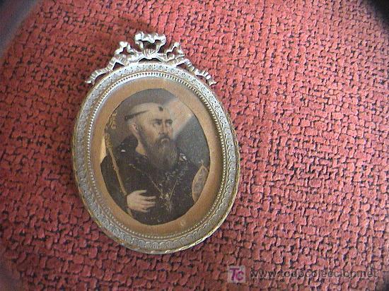 Arte: MINIATURA.PINTURA SOBRE LAMINA DE MARFIL SIGLO XVIII-XIX CON MARCO DE BRONCE. 12 cm. x 8 cm. - Foto 6 - 5232427