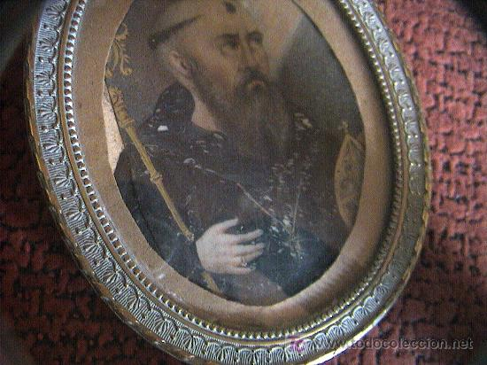Arte: MINIATURA.PINTURA SOBRE LAMINA DE MARFIL SIGLO XVIII-XIX CON MARCO DE BRONCE. 12 cm. x 8 cm. - Foto 12 - 5232427