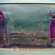 Arte: BONITA ACUARELA FIRMADA ANDRES. Lote 26809786