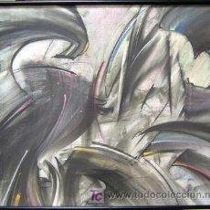 Arte: 1430.- PASTEL 57X70 CON MARCO Y CRISTAL ,,,TRAZOS,,, ILEGIBLE. Lote 26036368