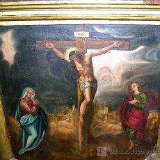 Arte: CALVARIO ESCUELA TOLEDANA SIGLO XVII. OLEO/S TABLA. VER DESCRIPCIÓN. MD. 77X63 ADJUNTA. ENVÍO PAGO.. Lote 56041291