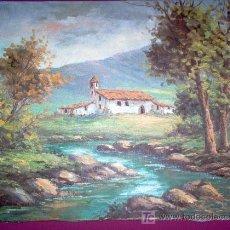 Arte: ÓLEO ORIGINAL DE PAISAJE. Lote 24399946