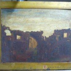 Arte: 1517.- OLEO S/TABLEX 38X49 ,,,PORTAL MURALLA,,, FIRMA ILEGIBLE. Lote 25276787