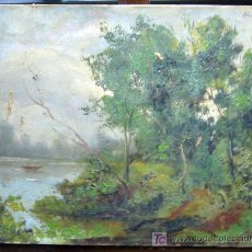 Arte: 1500.- OLEO SOBRE TELA DE 33X41 ,,, PAISAJE ,,, FIRMADO: FLORENSA. Lote 25642704