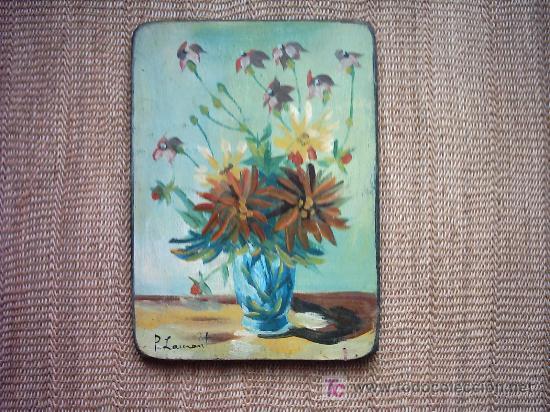 PRY LAMONT OLD IRONSIDES (1921-1987). OLEO/ TABLA. 35.5 X 25.5 CM. FIRMADO: P. LAMONT. (Arte - Pintura - Pintura al Óleo Moderna sin fecha definida)