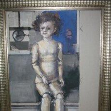 Arte: PIEZA DE COLECCIONISTA, 120 X 92, OLEO JAUME QUERALT MUÑECA ANTIGUA. Lote 26764741