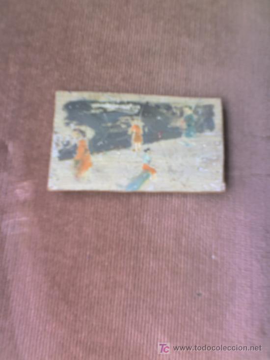 TABLA IMPRESIONISTA- PEQUEÑA-MARINA -VALENCIANA-OLEO SOBRE TABLA (Arte - Pintura - Pintura al Óleo Moderna sin fecha definida)