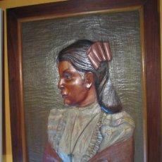 Arte: PINTURA Y TALLA SOBRE MADERA, HECHO EN MEJICO HACIA 1970.. Lote 26851247