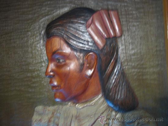 Arte: Pintura y talla sobre madera, hecho en Mejico hacia 1970. - Foto 2 - 26851247